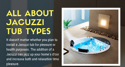 All About Jacuzzi Tub Types - Infographic