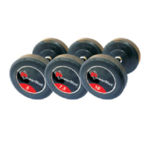 Rubber Coated Solid Dumbbells