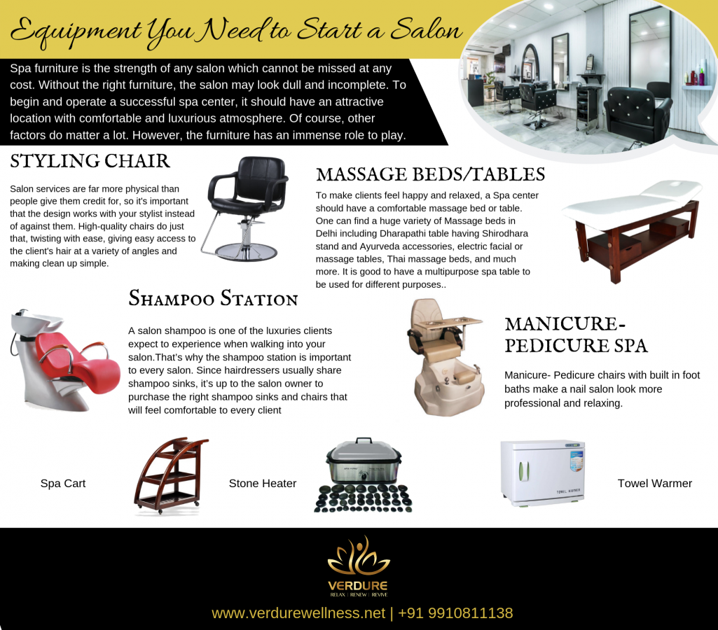 Equipments you need to start a salon