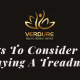 Featured Image of Post on What to Consider While Buying Treadmill by Verdure Wellness