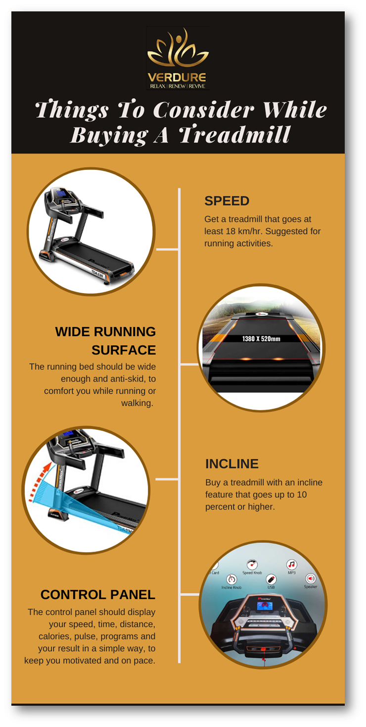 Top 4 Things to Consider Before Buying A Treadmill - Verdure Wellness